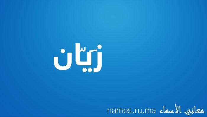 معنى إسم زَيّان