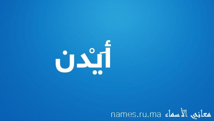 معنى إسم أَيْدن