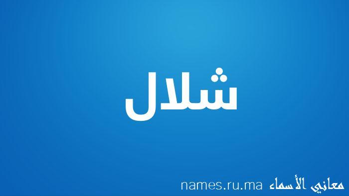 معنى إسم شلال