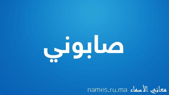 معنى إسم صابوني