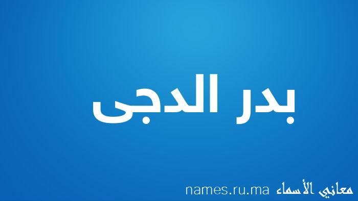 معنى إسم بدر الدجى