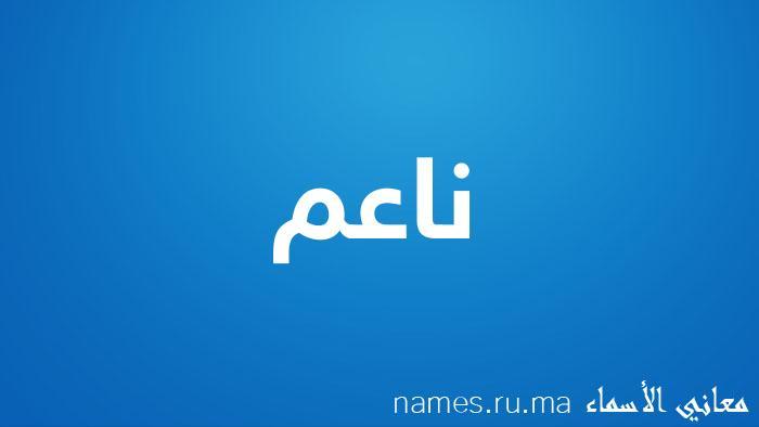 معنى إسم ناعم