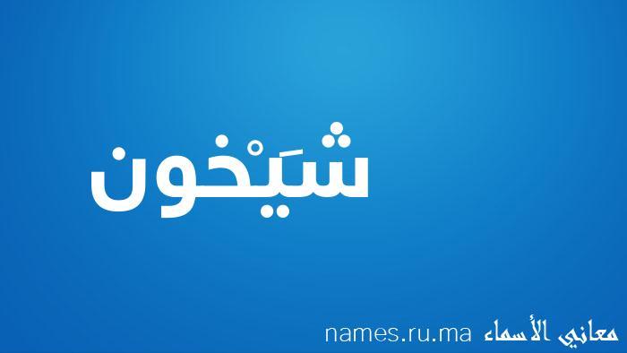 معنى إسم شَيْخون
