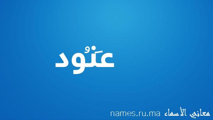 معنى إسم عَنُود