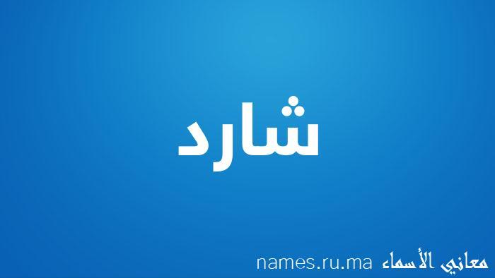 معنى إسم شارد