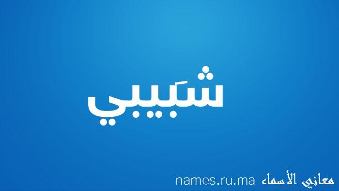 معنى إسم شَبيبي
