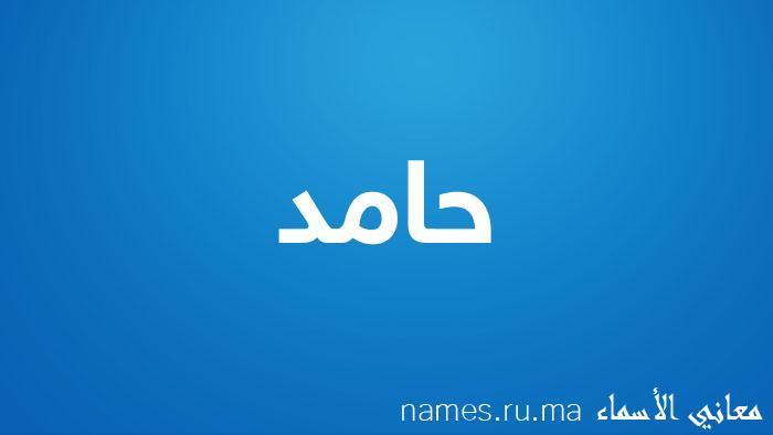 معنى إسم حامد