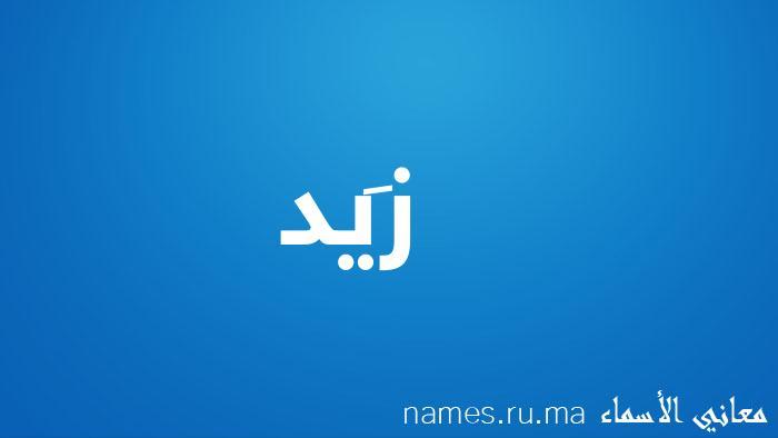 معنى إسم زَيد