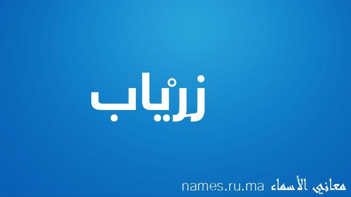 معنى إسم زِرْياب