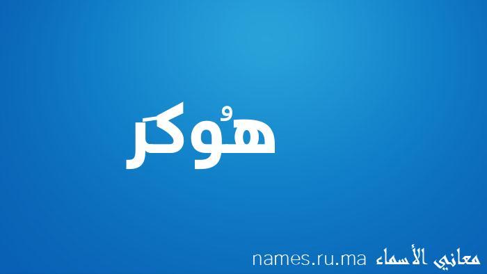 معنى إسم هُوكَر