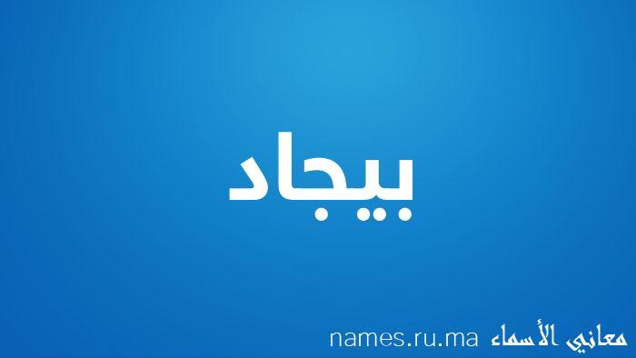 معنى إسم بيجاد