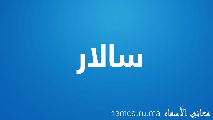 معنى إسم سالار