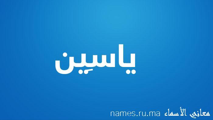 معنى إسم ياسِين