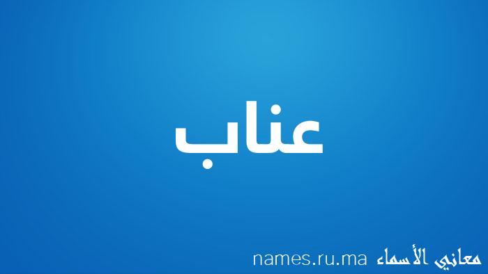 معنى إسم عناب