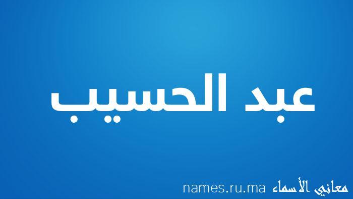 معنى إسم عبد الحسيب