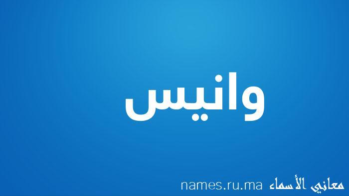 معنى إسم وانيس