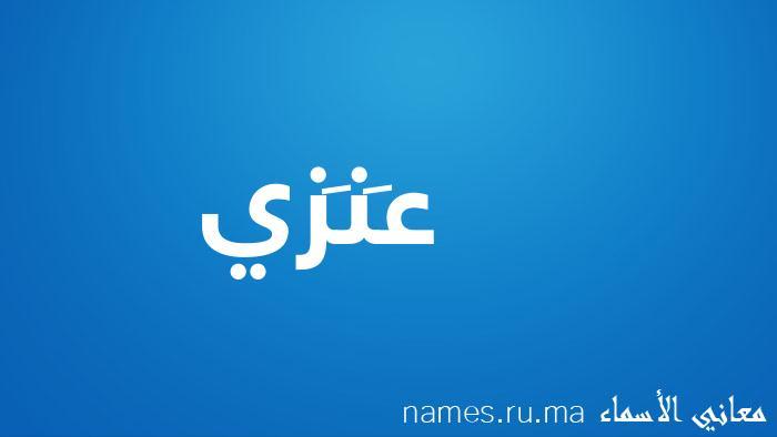 معنى إسم عَنَزي