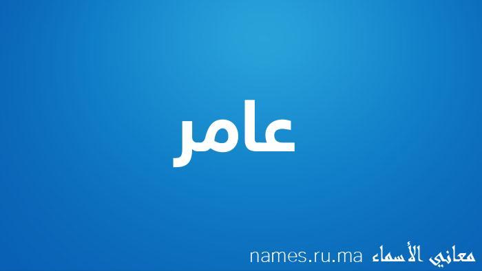 معنى إسم عامر