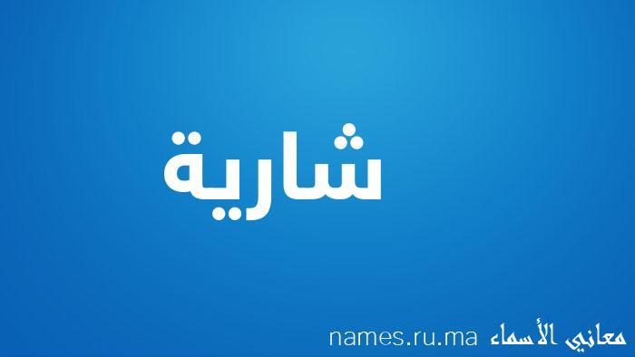 معنى إسم شارية