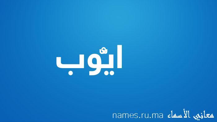 معنى إسم ايُّوب