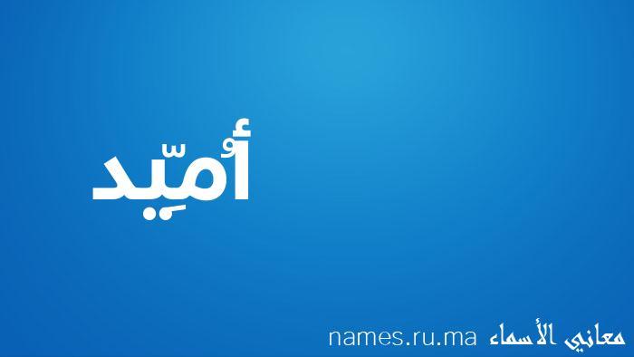 معنى إسم أُمِّيد