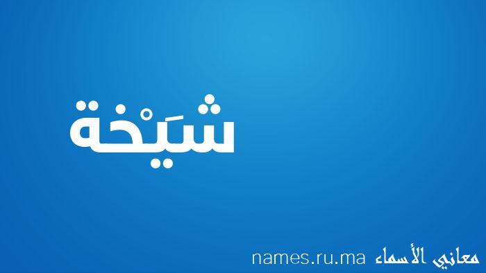معنى إسم شَيْخة